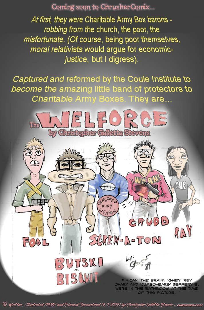 Coming Soon: THE WELFORCE!   Crusher Comics (1989)