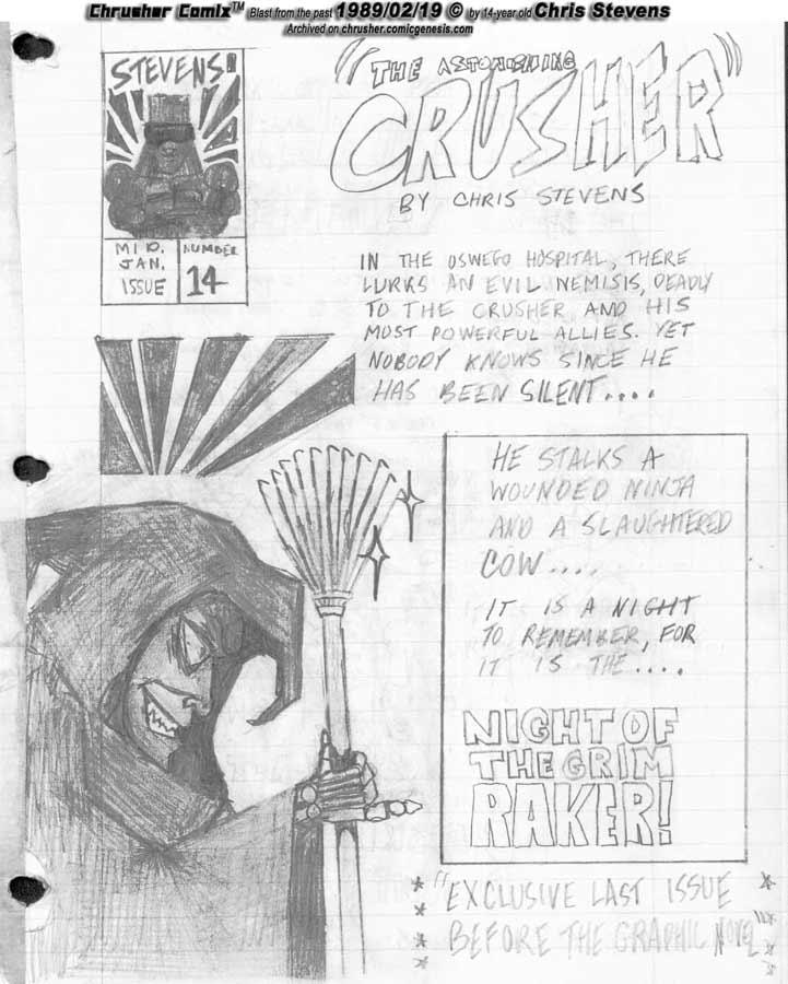 Night of the Grim Raker's Hectors   Crusher Comics #5 (1988-89 Mini-issue #14)