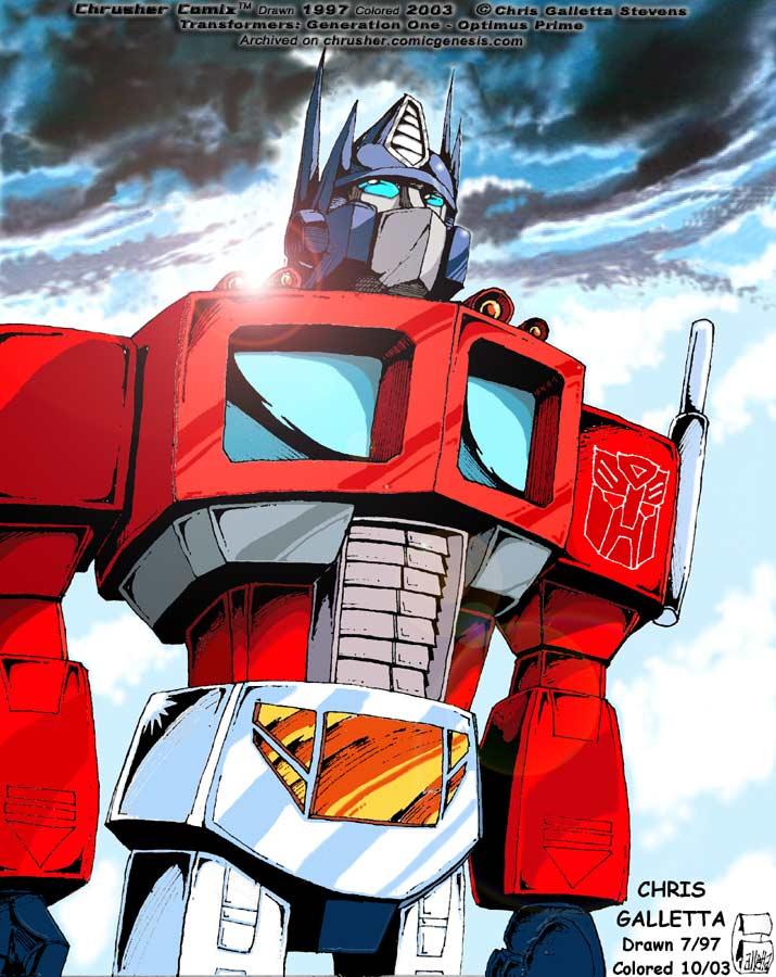 Transformers: G1 Cartoon Optimus Prime   Chrusher Comix