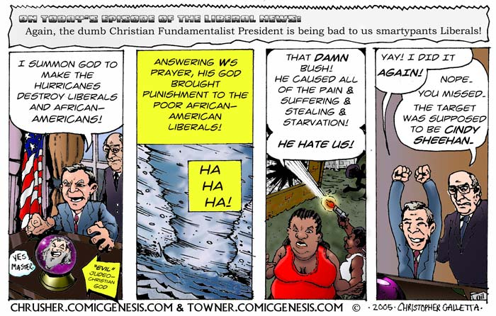 Hurricane Katrina Was Bush's Fault! | ChrusherComix