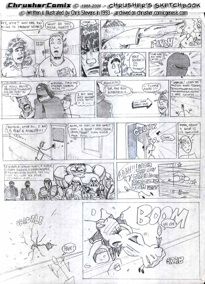 Nonsensical Grunge Rock Lyrics Invade The Comic