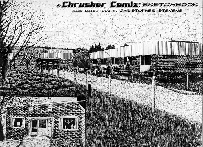 Meanwhile at The Criminal Justice and Forensic Art school… | Crusher Comics: Year 4, Issue #1 (1992)