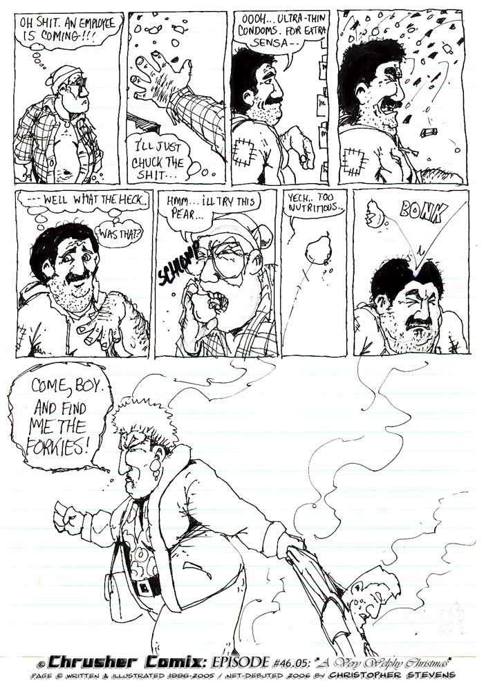 Ultra Thin Condoms And Forkbies   ChrusherComix Holiday Special