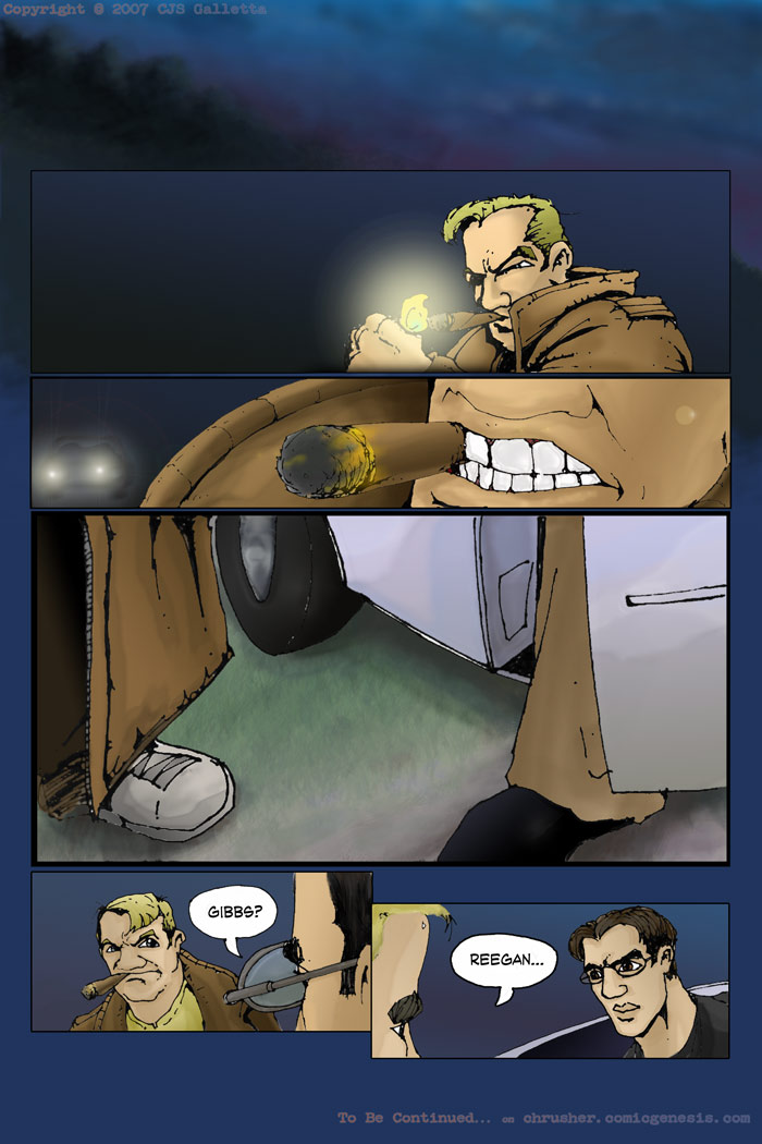The Arrival of Chace & Gibbs | End Cycle #1 – Page 12 (2007-11-13)