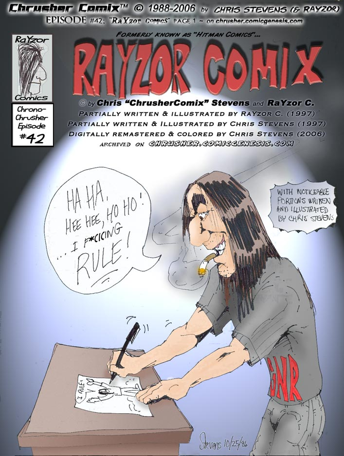 RaYzor's Edge Comics #1 | cover (1997-06-01)