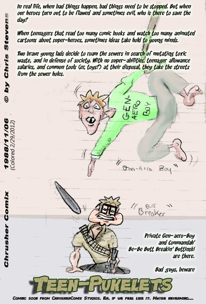 TEEN PUKELETS! | Chris' Crusher Comics #1 (1988)