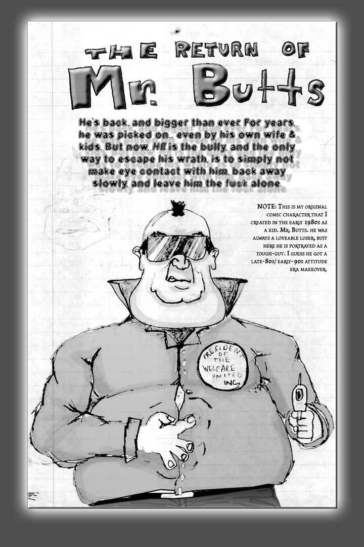 The Return of Mr. Butts | Crusher Comic Classics #3 (1988)