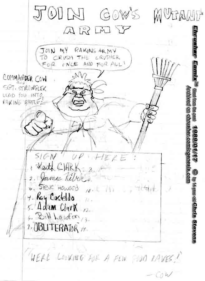 You want to Rake Butts? Join Cow's Raking Army TODAY! | Crusher Comics Classics #4