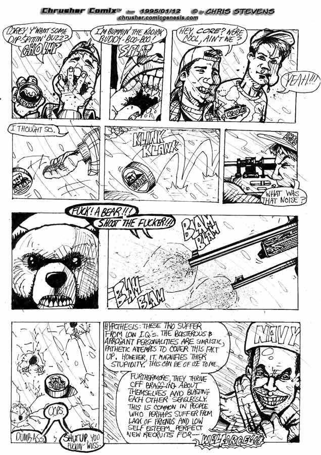 """Fuck! A bear! Shoot the fucker!"" | Crusher, The Return of… #1"