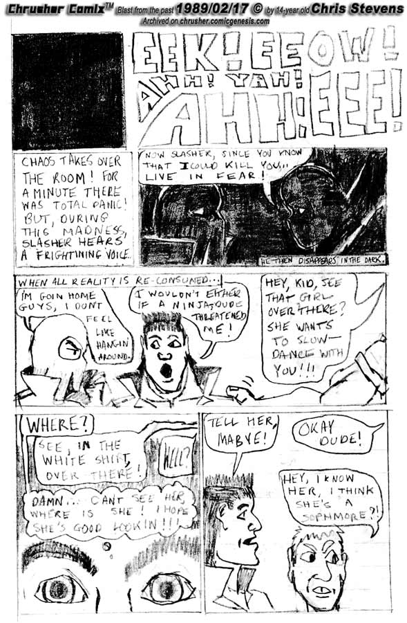 """""""Live In Fear."""" / Chrusher's Weak Ass Game   Crusher Comics Classics #5"""