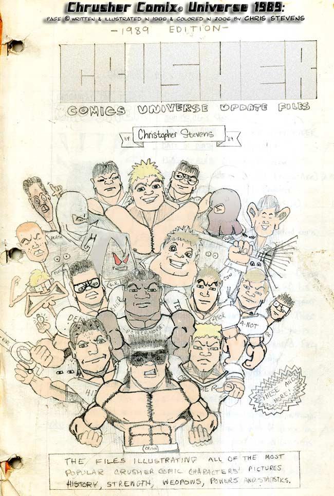 Crusher Comics Universe Bio Files | 1988-89 Profiles