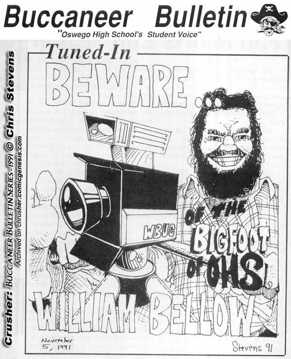 Buccaneer Bulletin Series Bigfoot Of OHS Mr Bellows WBUC
