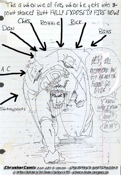 "Plotting The BB Shooting of the Jo-Jo's Bunns | Crusher Comics, ""The Return of… "" #2 (1995)"