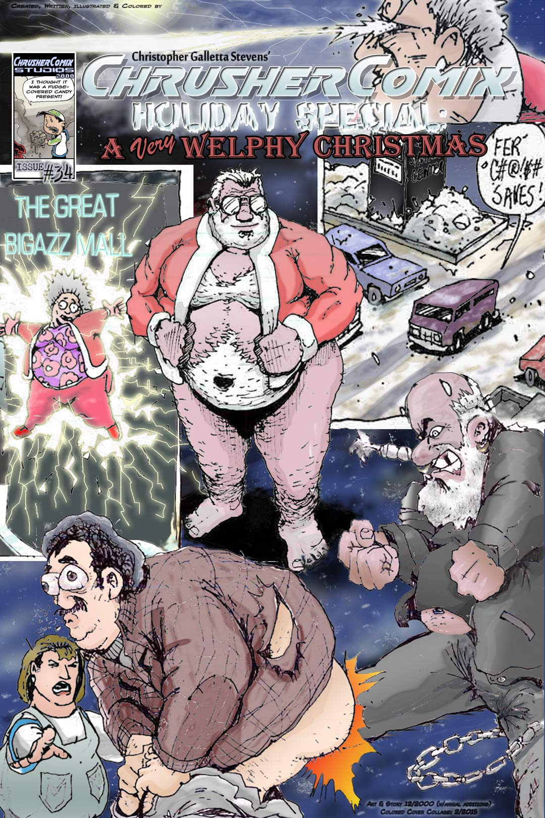 The ChrusherComix Holiday Special – A VERY Welphy Christmas (Colorized Cover)